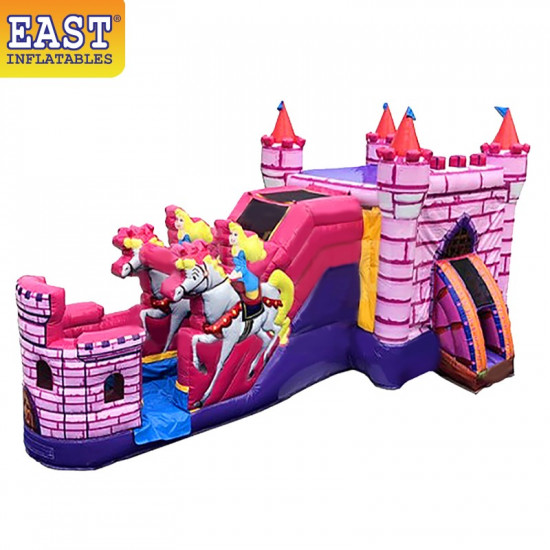 Princess Carriage With Horses Bounce House