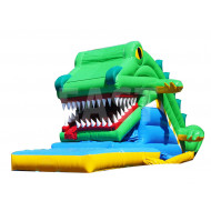 Crocodile Snappy Inflatable Slide