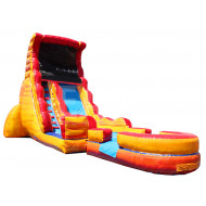Volcano Inflatable Water Slide