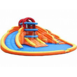 Inflatable Kiddie Pool With Slide