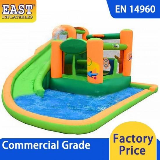 Splash And Slide Inflatable Water Slide