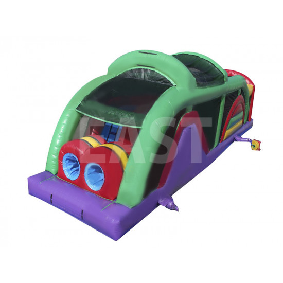 Purple And Green Obstacle Course