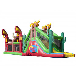 Cowboy Inflatable Assault Course