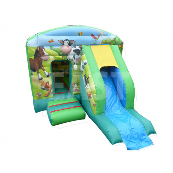 Farm Bouncy Castle Slide