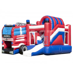 Fire Department Inflatable Bouncy Castle Slide