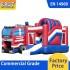 Fire Department Inflatable Bouncy Castle Slide