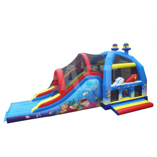 Sea Bouncy Castle With Slide