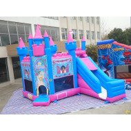 Princess Jumping Castle With Slide