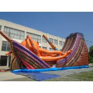Kraken Inflatable Pirate Ship Slide