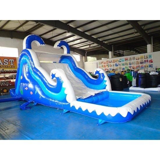 Backyard Inflatable Pool Slide